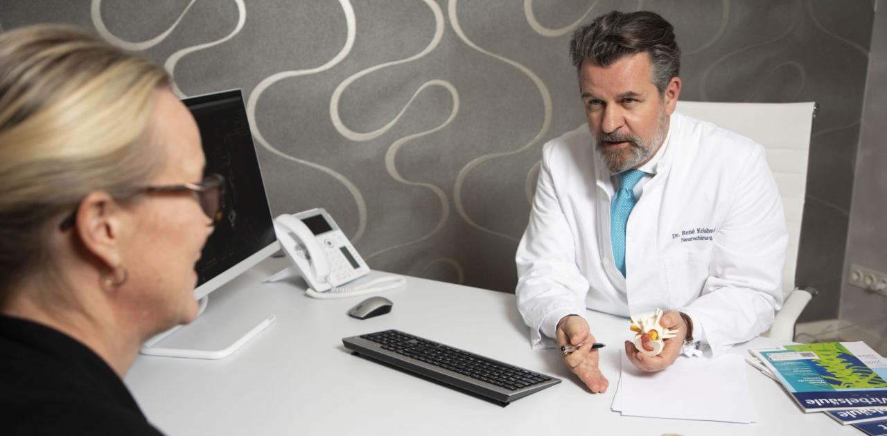 Neurochirurg Dr.Krishnan, Behandlung aller schmerzhaften Erkrankungen der gesamten Wirbelsäule
